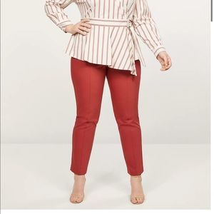 Lane Bryant Scorched Red Curvy Allie Ankle Pants